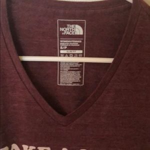 Used burgundy T-shirt The North Face